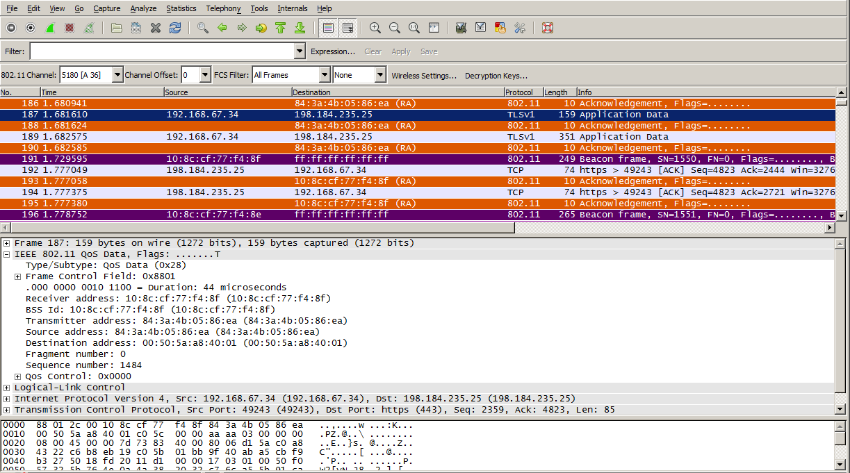 Wifinigel Wlan Packet Capture Displaying Only 802 11