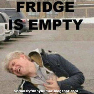 Fridge is empty - suffering :( Funny meme