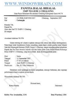 Download Contoh Surat Undangan Resmi Acara Halal Bihalal Smp Untuk