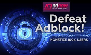 Adnow, anuncios nativos anti Adblock
