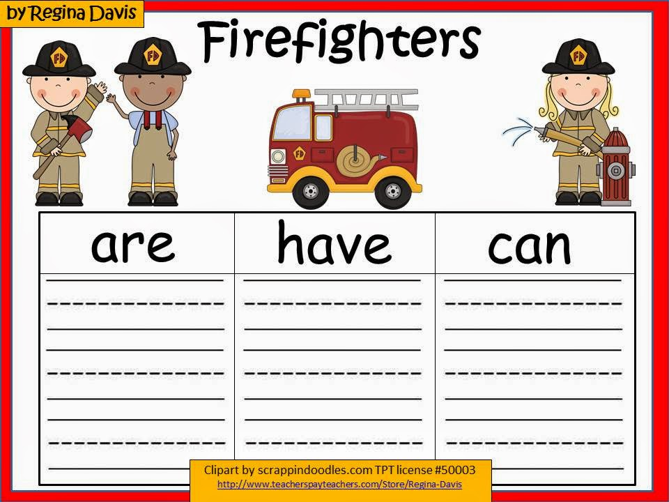 http://www.teacherspayteachers.com/Product/A-Firefighters-Graphic-Organizers-343116