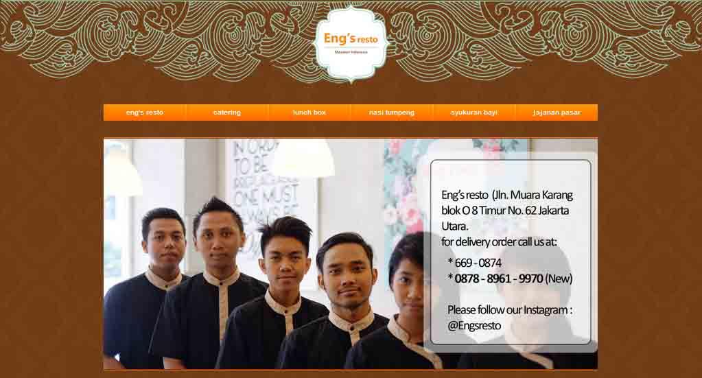 Eng's Resto: Catering dan Resto Masakan Traditional Indonesia yang Lezat