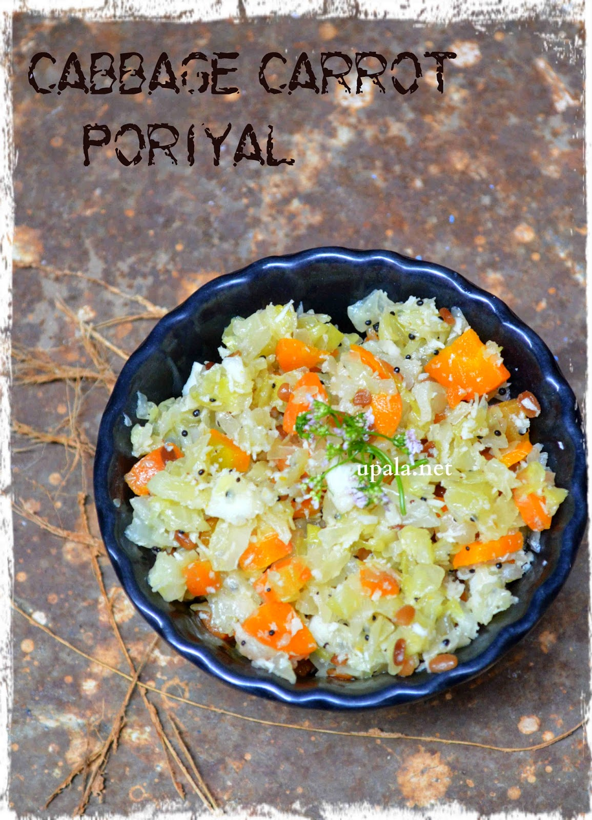cabbage carrot poriyal