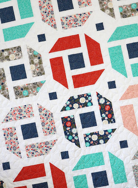 Cheerful - a fresh, modern quilt pattern that is fat quarter friendly