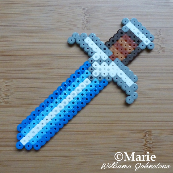 Hobbit perler beads pattern sword of Bilbo Baggins Sting hama fused craft