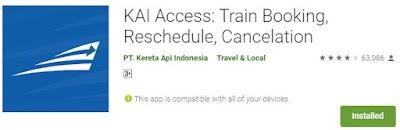 Aplikasi KAI Access untuk membeli tiket Prameks Secara Online