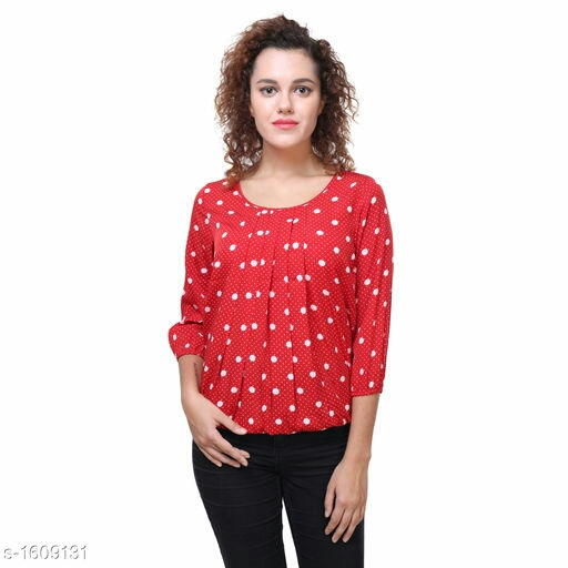 Attractive Knitted Printed Top