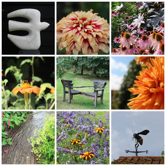 Flowers, sculpture, features and the mother of all bee weather vanes