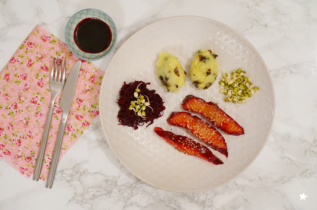 gravlax saumon betterave plat principal