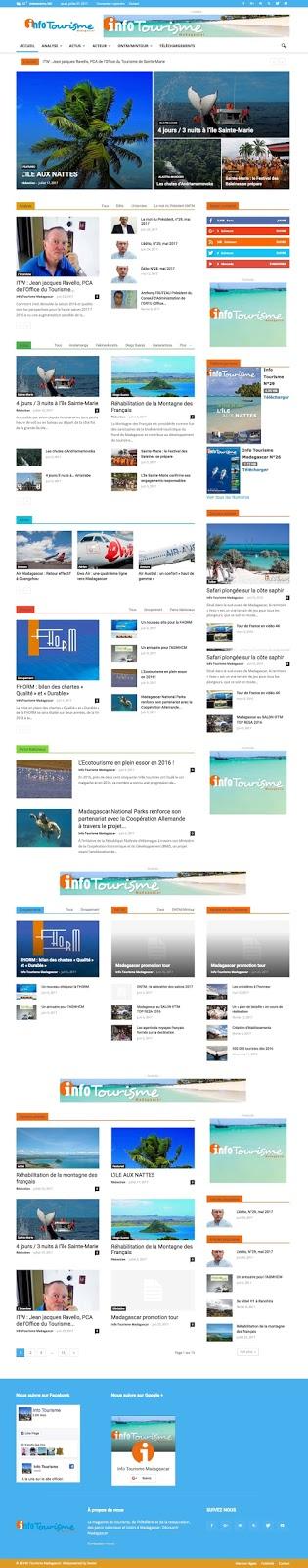 Info Tourisme Madagascar, le site web
