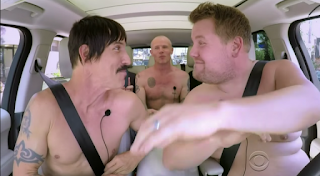 """Red Hot Chili Peppers Feature On James Corden Now Infamous """"Carpool Karaoke"""""""