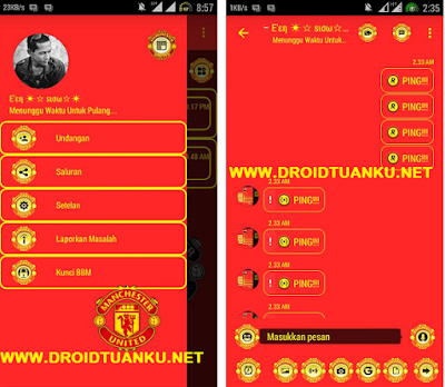 Download BBM Mod MU (Manchester United)