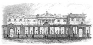 Carlton House from Pall Mall from Memoirs of George IV by R Huish (1830)