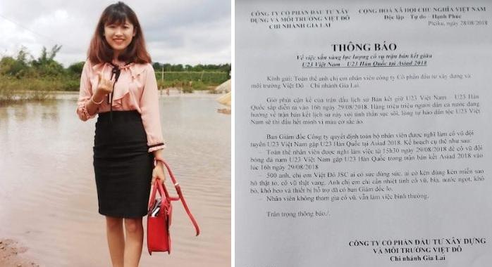 Gia Lai: Nữ Giám đốc cho cả công ty nghỉ làm để... cổ vũ đội tuyển Việt Nam