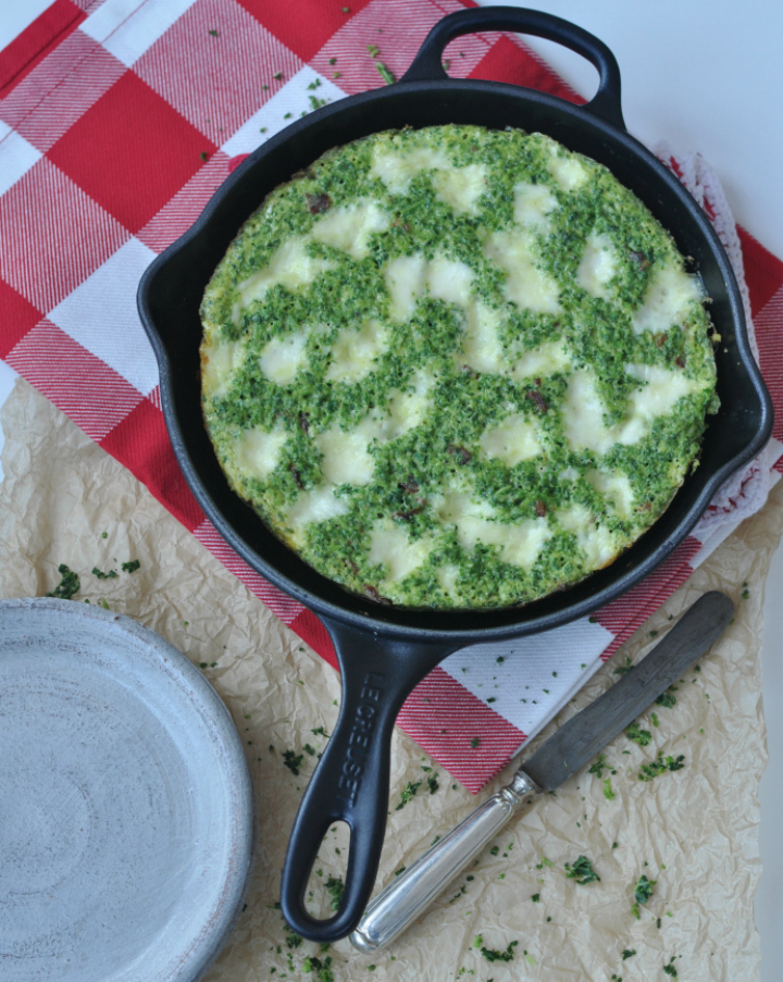 Frittata with Savoy - an Italien classic with a twist (and it's gluten free, too!)