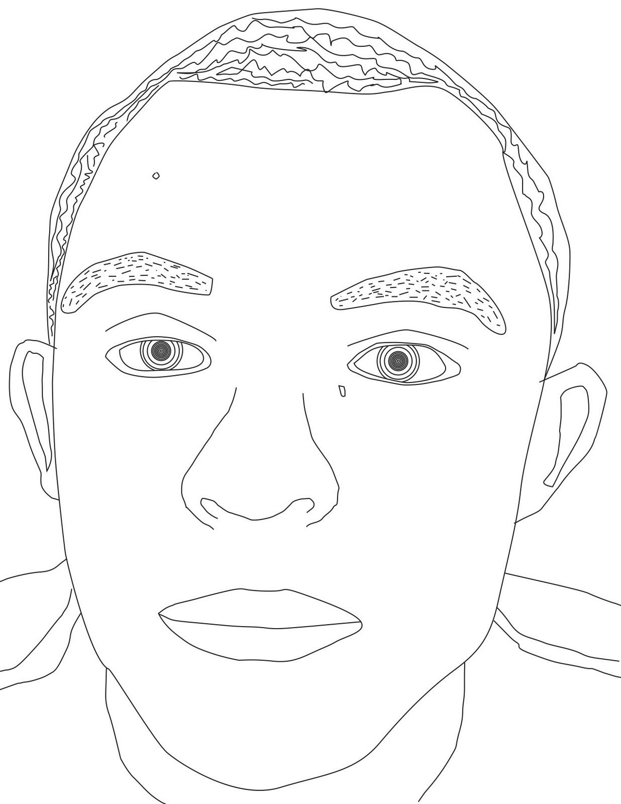 Space Bound: Line self portrait
