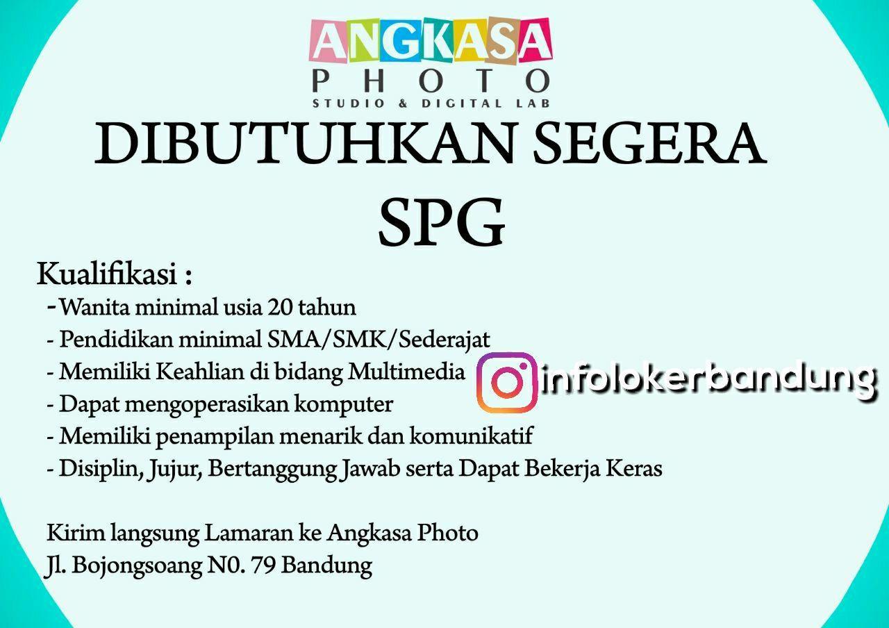 Lowongan Kerja Angkasa Photo Studio & Digital Lab Bandung Desember 2017