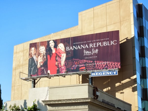 Banana Republic LWren Scott Collection billboard