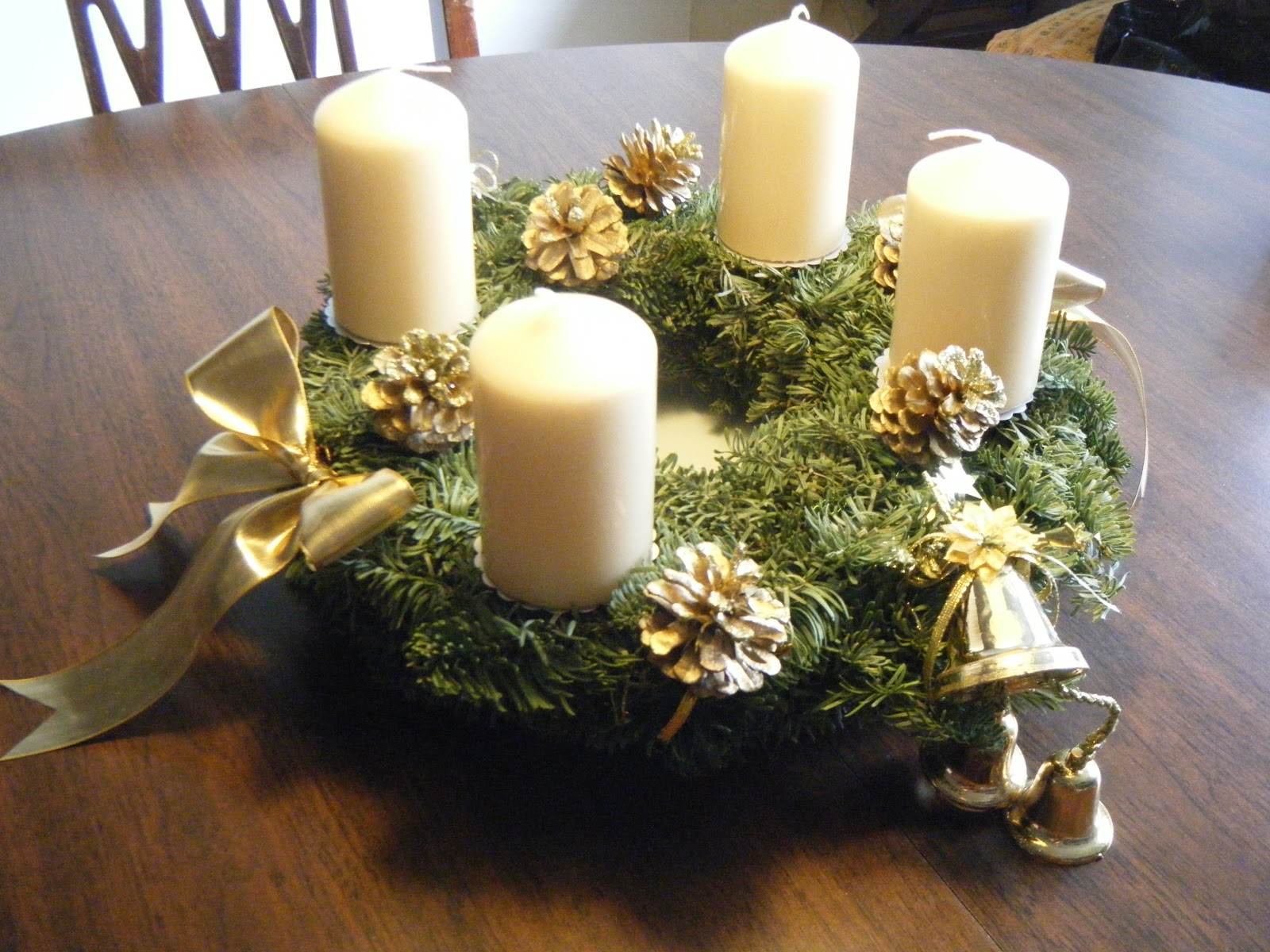 diy advent wreath. Black Bedroom Furniture Sets. Home Design Ideas