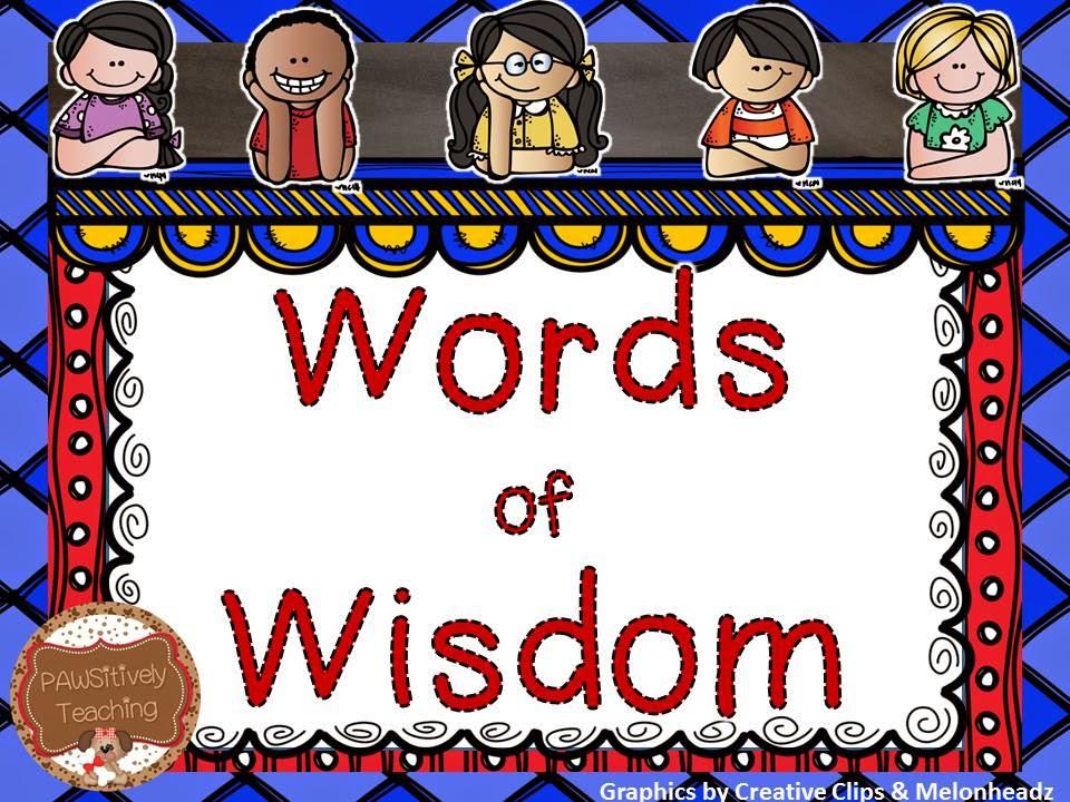 Words Of Wisdom: Grasty's 2nd Grade Goodies: Words Of Wisdom
