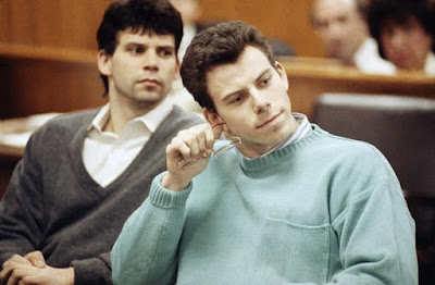 Lyle, left, and Erik Menendez in court April 12, 1991, in Beverly Hills, Calif.
