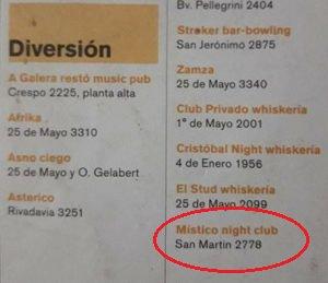 Folletería oficial del Gobierno de la ciudad de Santa Fe, promocionando Místico.