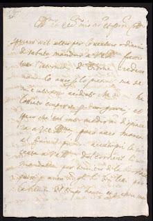 Carta de Monteverdi a Enzo Bentivoglio en Ferrara, 18 de septiembre de 1627, (British Library, MS Mus. 1707), sobre el intermezzo del compositor, Didone ed Enea.