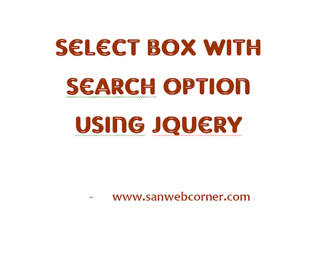 Select Box with Search Option Jquery
