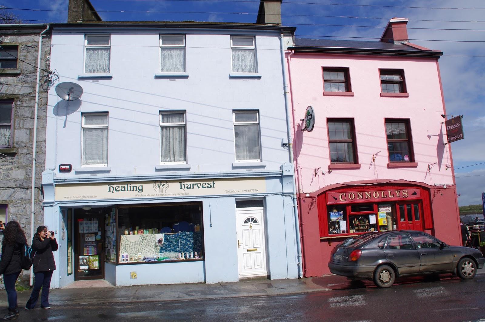 Colourful shops in Kinvarra Ireland