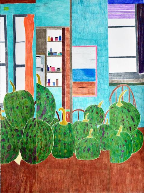 "Arte, dibujo por Ross Taylor, ""Seedling, 2017"", pencil on paper."
