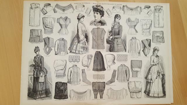 vintage sewing pattern magazine schnittmuster retro cut sewing pattern la modee illustree 1900 1890s