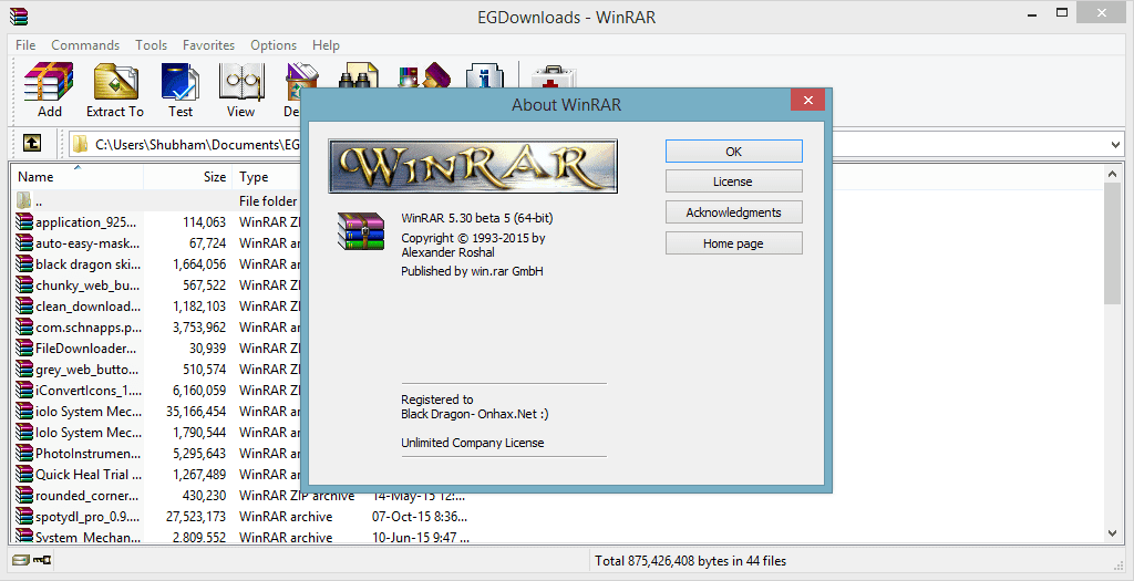 winrar  windows xp sp2