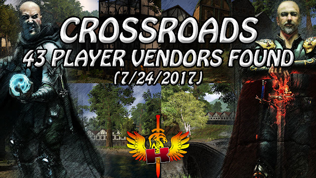 Crossroads, 43 Player Vendors Found (7/23/2017) 💰 Shroud Of The Avatar Market Watch