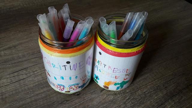 cadeau facile maitre maitresse  atsem ecole pot a crayon création tutoriel enfant personnalisé