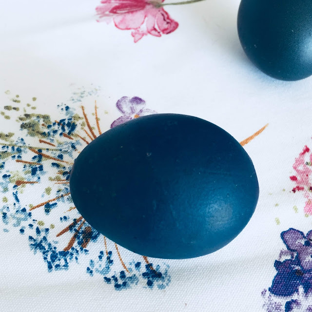 💙 błękitne jajka naturalnie barwione