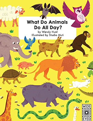 Children who love animals will love this book! What Do Animals Do All Day? explores animals grouped by their habitat and the jobs they do within their natural environment. From a coral reef to a desert to the North Pole to your own backyard and more, kids will learn a lot about a variety of animals! #WhatDoAnimalsDoAllDay #childrenslit #nonfiction #aniamls