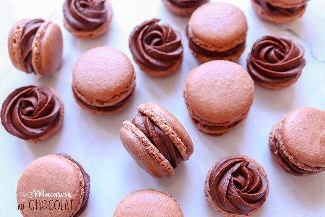 macarons au chocolat rapide