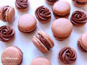 Macarons au chocolat - version facile (ganache simple)