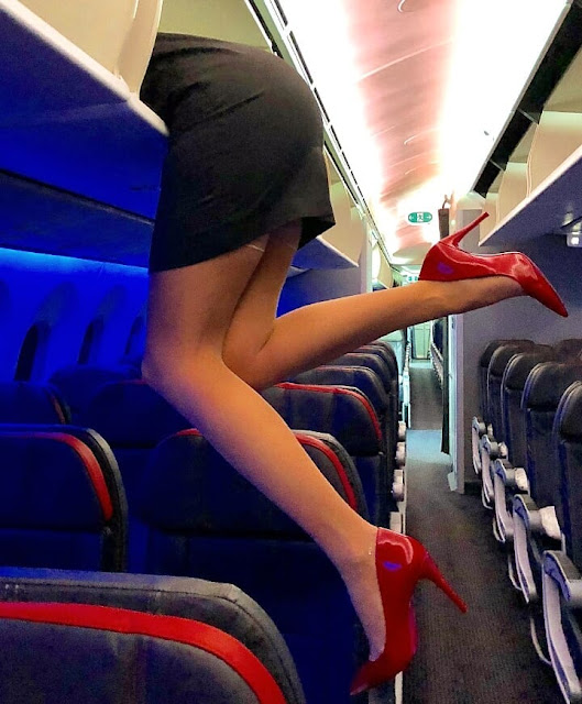 What flight attendants do before takeoff?