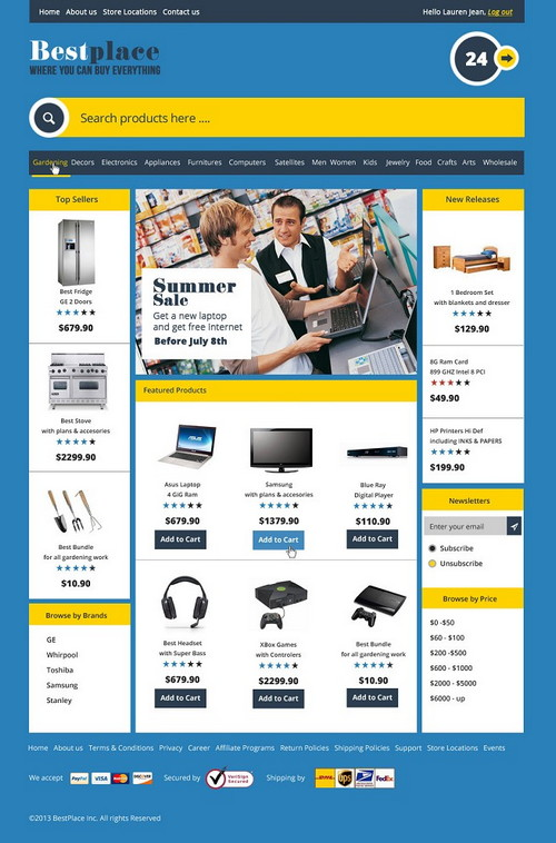 Best Place Ecommerce Template