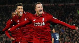 Xherdan Shaqiri strikes twice as Liverpool defeat Manchester United