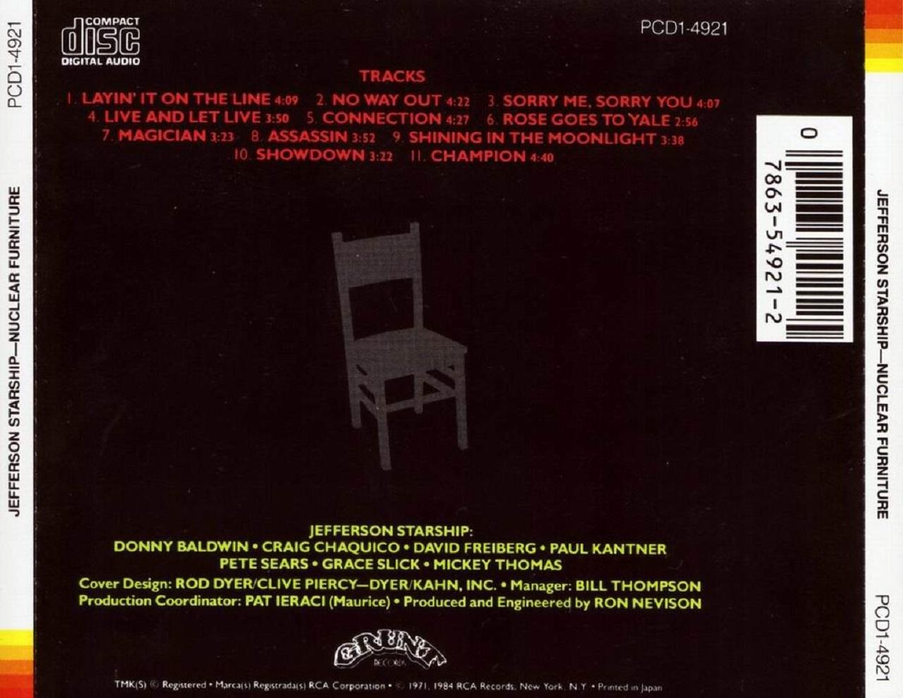 jefferson starship nuclear furniture full album