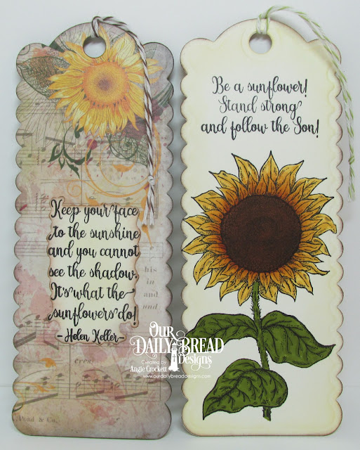 ODBD Be A Sunflower, ODBD Follow The Son Paper Collection, ODBD Custom Bookmarks Dies, Designer Angie Crockett