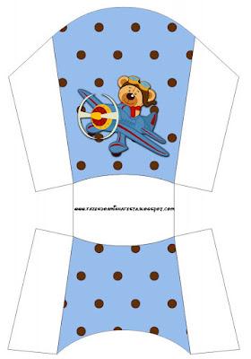Pilot Bear Free Printable Boxes.