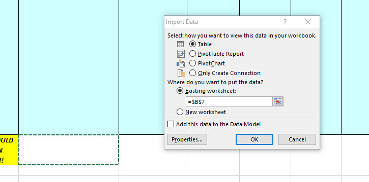Run a Query in Excel and Remove Column Headers ~ The SQL Goth