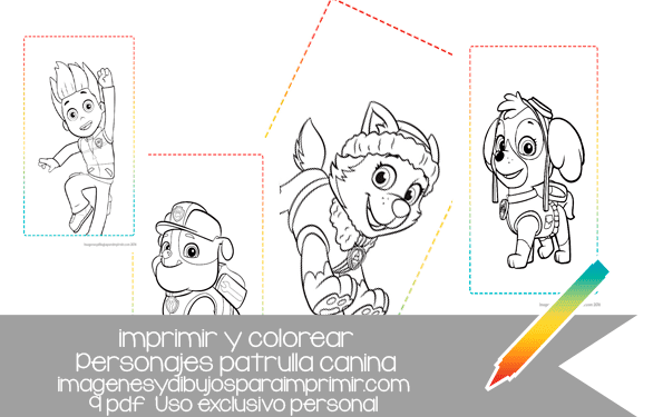 Imprimir Y Colorear Patrulla Canina Imagenes Y Dibujos Para Imprimir