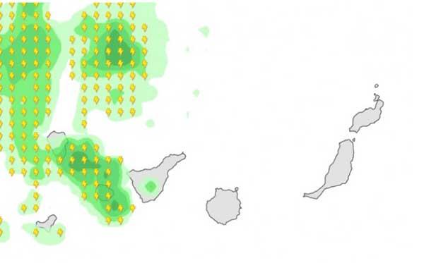 La borrasca en Canarias afectará a las  islas occidentales, 25 y 26 noviembre
