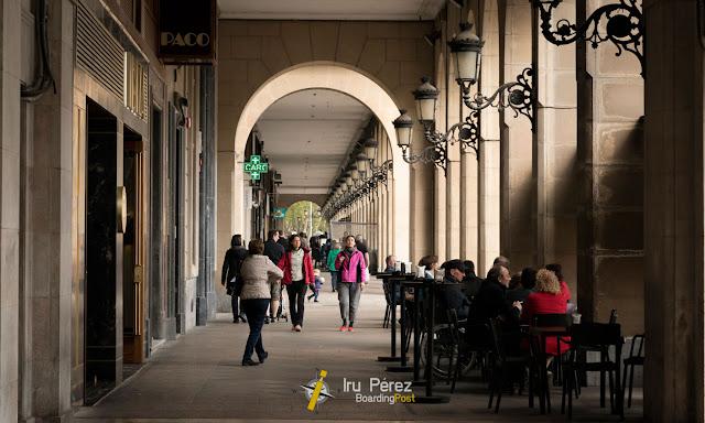 Arcos en el centro de Logroño