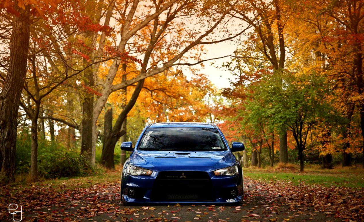 Mitsubishi Lancer Evolution X Blue Tuning Car Parking Hd