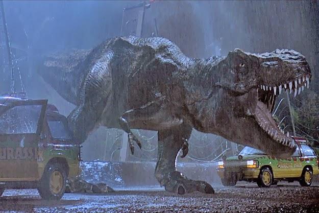 Dinosaure de synthèse de Jurassic Park (1993), réalisé par Steven Spielberg.